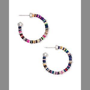 NEW KENDRA SCOTT Silver Reece Mix Hoop  Earrings